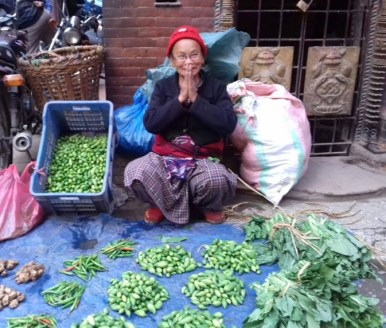 Fulmaya Didi & her road-side vegetable business.