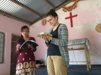Natalie shares, Pastor Madan's daughter translates