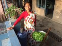 Mithu Amma prepares food at Kathmandu Vineyard