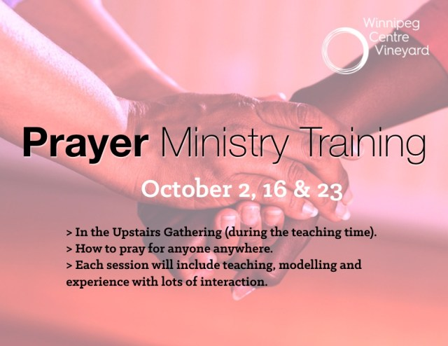 Prayer Ministry Training Poster