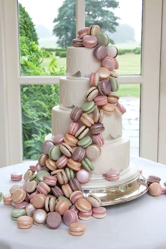 World Class Weddings macaron-wedding-cake The Art of The Cake