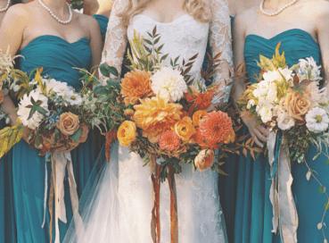 World Class Weddings teal-and-rust-4 Something Borrowed, Something Hue.