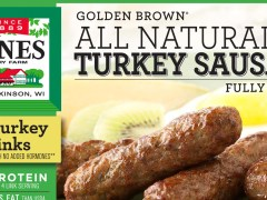 Jones Dairy Farm's All Natural Turkey Sausage packaging