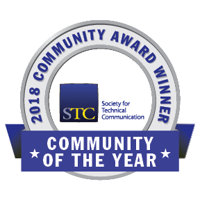 Transparent graphic of STC CAA 2018 STC Community of the Year (COTY) Award