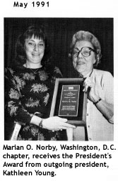 Marian Norby receives President's award