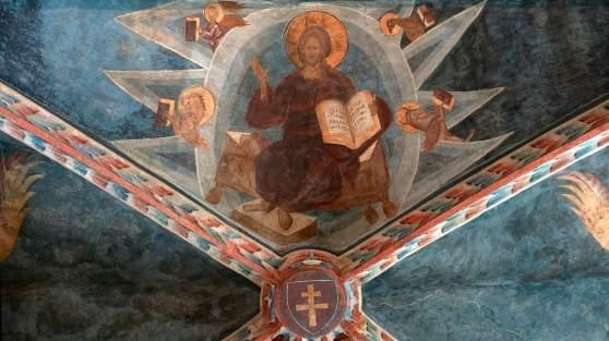 Chrystus w majestacie - fresk w Kaplicy Zamkowej Trójcy Świętej