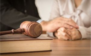grieving clients meeting with lawyer