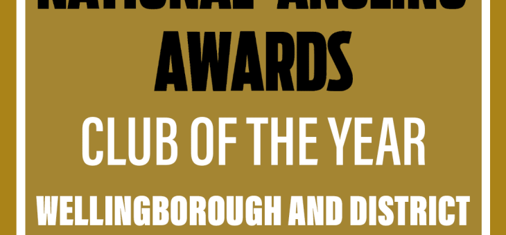 WDNAC VOTED ANGLING  TIMES CLUB  OF  THE  YEAR  AWARD  2020