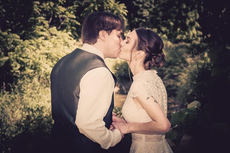 Couples kiss photo