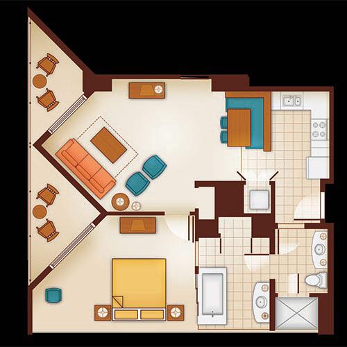Aulani 2 Bedroom Villa Floor Plan