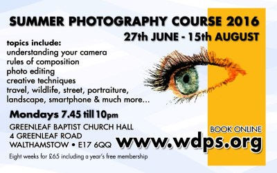 Summer Photography Course – 2016