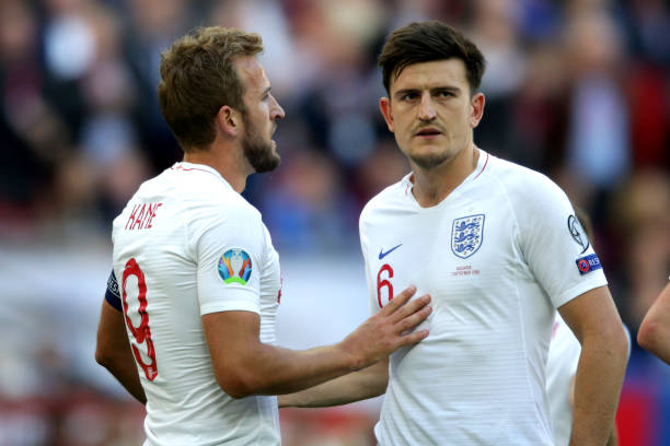 Harry Kane has shown support to his under-fire England colleague Harry Maguire