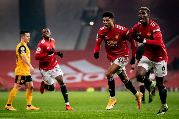 Man Utd 1-0 Wolves: Rashford fires United into second place