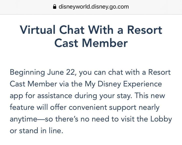 Chat with A Cast Member Walt Disney World Resort reopening COVID-19