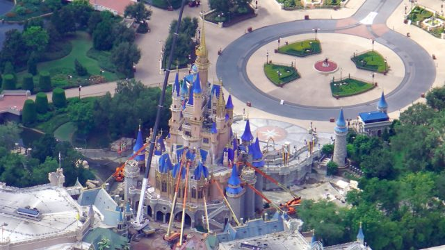 Aerial view of Cinderella Castle Construction before reopening! 4