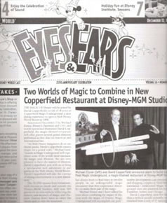 Eyes and Ears - Michael Eisner -0 David Copperfield