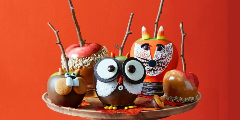 Turn this fall-time favorite into woodland creatures your kids will love with leftover Halloween candy.  Get the recipe.  Tools you'll need: $7 for set of 100, Stick Branch, amazon.com