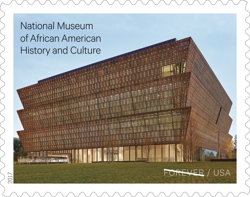 USPS Forever Stamp of National Museum of African American History & Culture