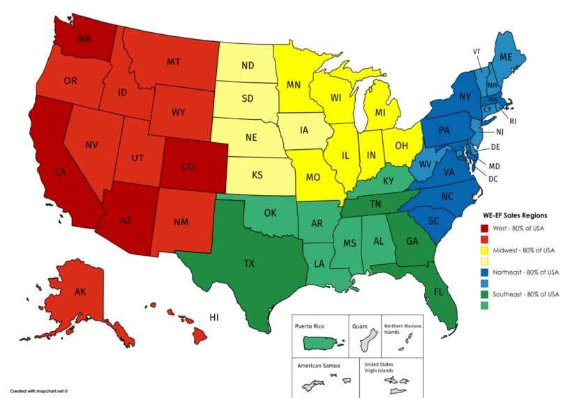 Inside Sales Territory Update – WE-EF LIGHTING USA