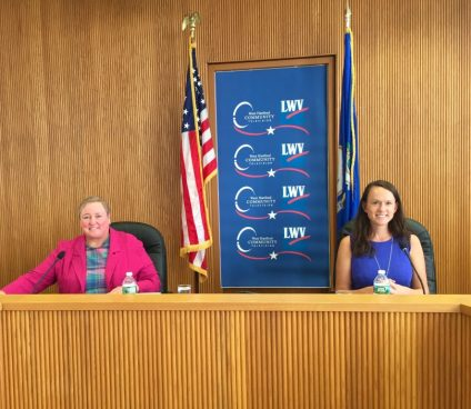 Jillian Gilchrest debates Mary Fay at the West Hartford Town Hall for the District 18 seat