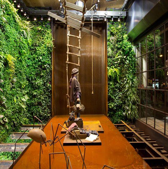 vertical garden in barcelona Vertical Garden Installation, Replay Barcelona | We Heart
