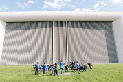 0Filming in front of the world largest windtunnel in NASA Ames reseacrh center- 6t september _photo neil berrett.jpg