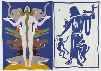 of the Animals, Animal Self, 1987, 2 Parts glued felt, 244 x 183 cms, Malmö Konsthall_original.jpg