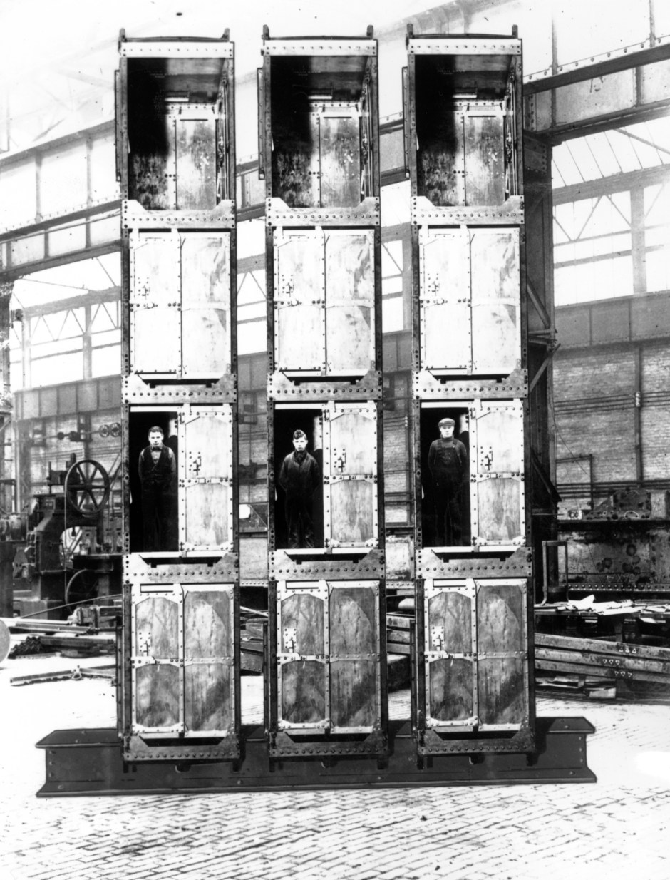Man cages made by Vickers Armstrong, 1936. Courtesy of Tyne and Wear Archives and Museums