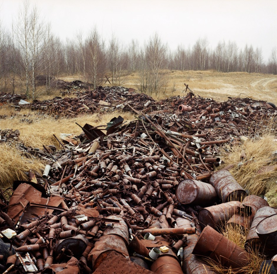 PRESS PHOTO ONLY TO BE USED IN RELATION WITH EXHIBITION RELICS OF THE COLD WAR IN DHM, BERLIN 2016. CUTTING PICTURES IS NOT ALLOWED. GERMANY, Germany east, Lieberose Left behind ammunition on former exercise terrain of the Soviet army. Photo: Martin Roemers