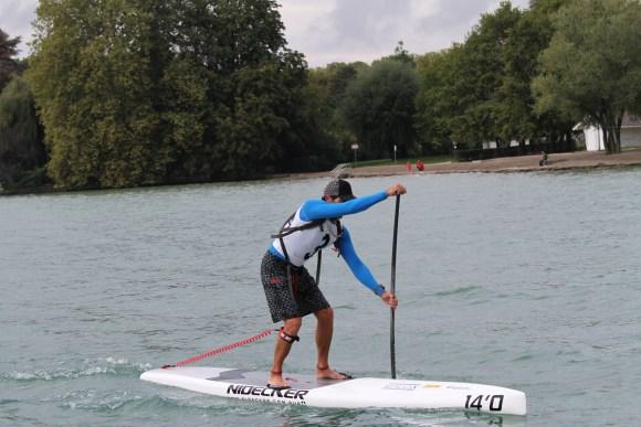 Jean-Luc Malfroid Vainqueur de la 1ère open race du lac d'Annecy (photo Laurent Cuocq)