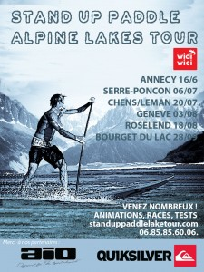 stand up paddle alpine lakes tour