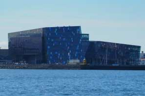 The gorgeous Harpa concert hall in Reykjavik