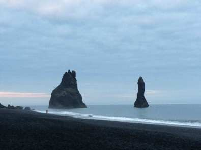 Sea stacks at Reynisfjara near Vik in Iceland