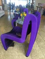 Blockade runner purple chairs