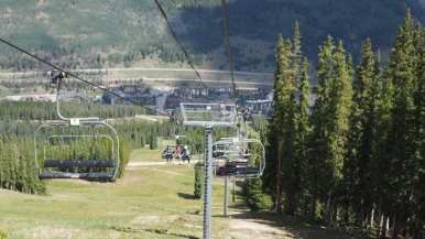 Copper Mountain chairlift going down