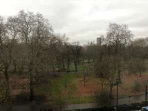 Athenaeum bedroom view of Green Park