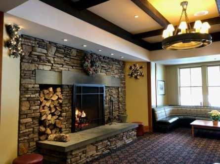 Jackson Gore lobby fireplace