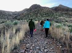 Tamara and Kim on hiking trail