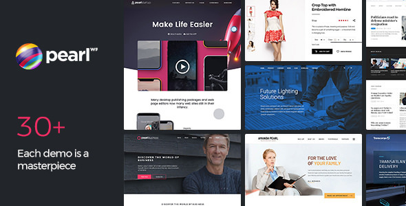 Pearl 3.0.4 (Nulled) - Corporate Business WordPress Theme