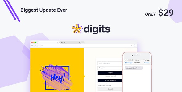 Digits 7.7.0.7 Nulled + Addons – WordPress Mobile Number Signup and Login