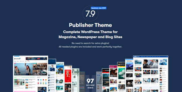 Publisher pro 7. 9. 0 rc5 nulled - newspaper and magazine wordpress theme