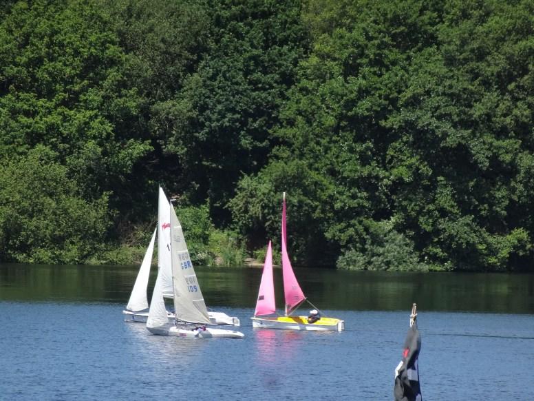 Martin leading David and Mike towards the windward Mark