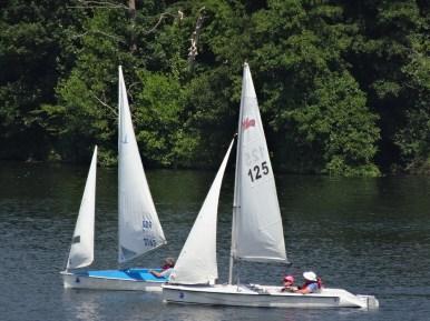 Martin sailing by Keith...