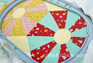 Embroidered-Applique Center Circles
