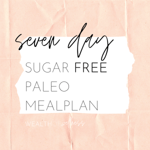 7 Day Sugar-Free Paleo Meal Plan Cover