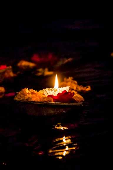 photo of a lighted candle