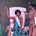 Miss Congo's wig catches fire after been crown Miss Africa 2018 Calabar (Video)