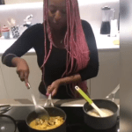 Watch billionaire daughter DJ Cuppy cook correct seafood  Okra soup and Eba(Video)
