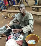 Photos/Videos:Fake Pastor Caught with bag filled with female pants and bra in Auchi, Edo state