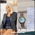 Regina Daniel Buys for herself  N3.3 million Rolex watch  (See Photo & Video)